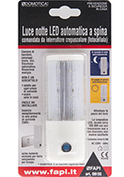 Luce notte LED automatica a spina